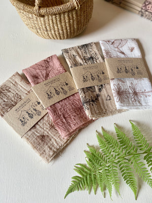 Bandana | Spring Herbs | Plant Dyed | Sand