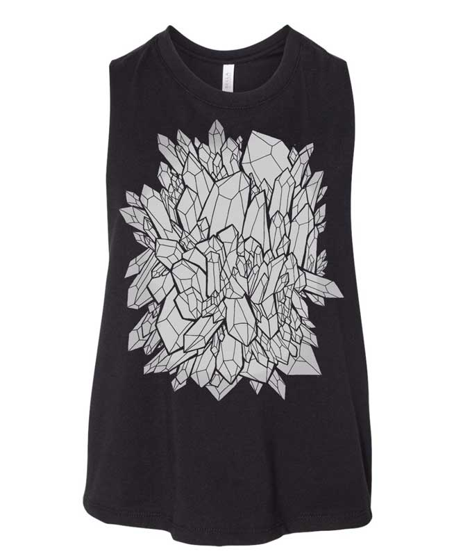 Crystal Cluster Muscle Tee Crop | SALE