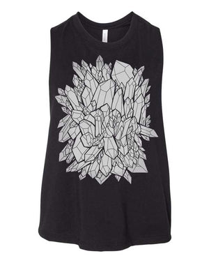 Crystal Cluster Muscle Tee Crop