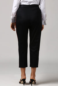 Black pants With Red Piping Detail Back