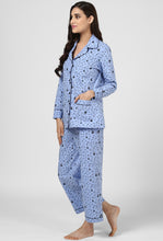 Load image into Gallery viewer, Blue Print Midnight Musings Night Suit