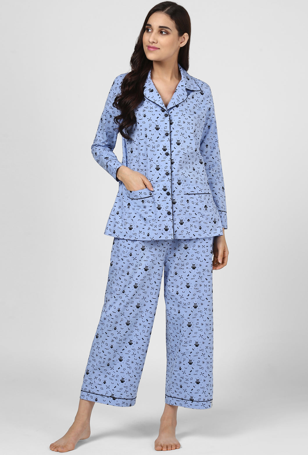 Blue Print Midnight Musings Night Suit