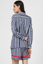 Load image into Gallery viewer, Blue Stripe Snuggle Up Night Suit