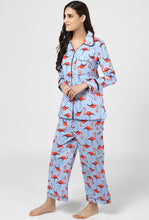 Load image into Gallery viewer, Flamingo Pajama Party Night Suit