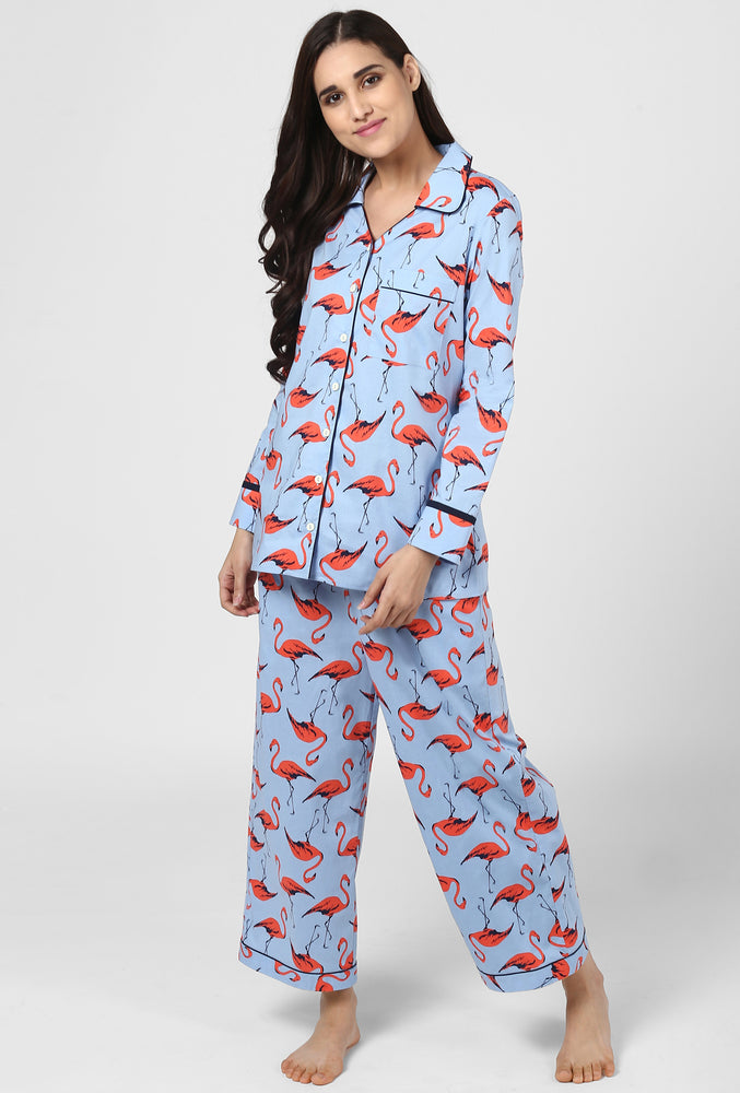 Flamingo Pajama Party Night Suit