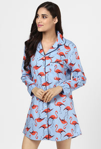 Flamingo Print Night Shirt