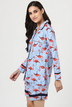 Load image into Gallery viewer, Flamingo Snuggle Up Night Suit