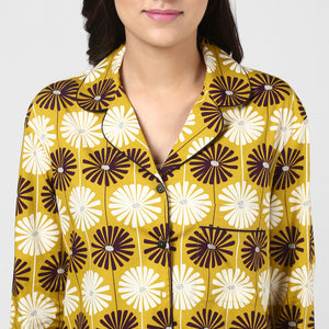 Floral Print Night Shirt