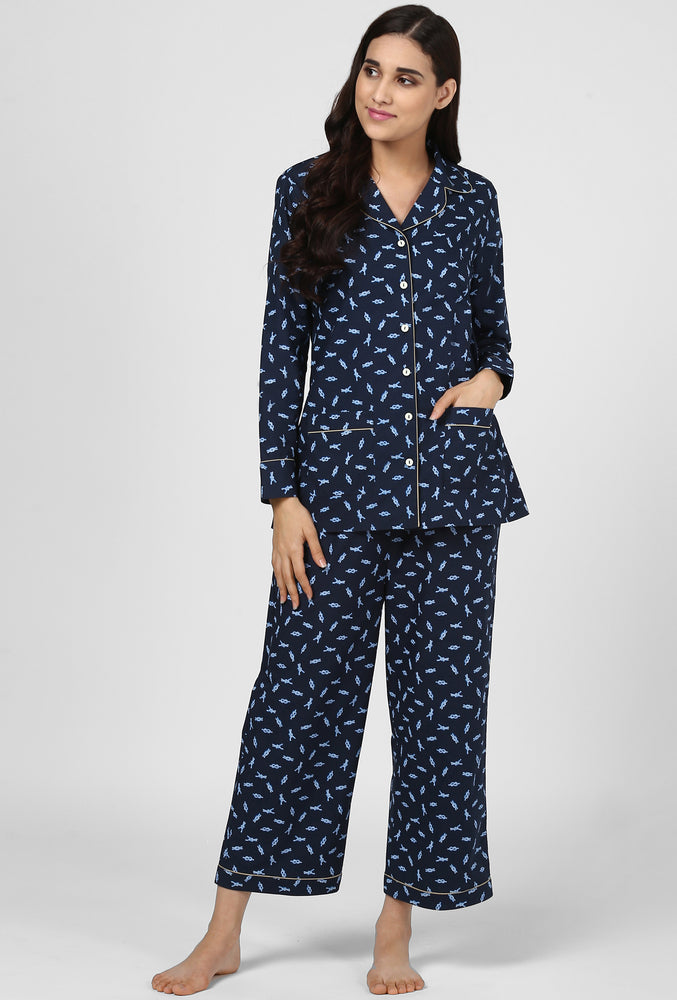 Knot Print Pajama Party Night Suit