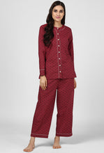 Load image into Gallery viewer, Maroon Riding High Printed  Night Suit