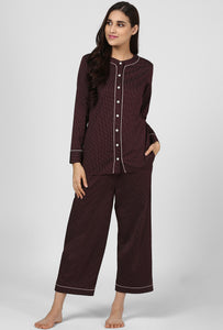 Midnight Espresso Pajama Party Night Suit