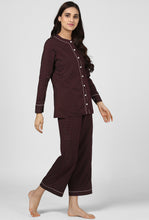Load image into Gallery viewer, Midnight Espresso Pajama Party Night Suit