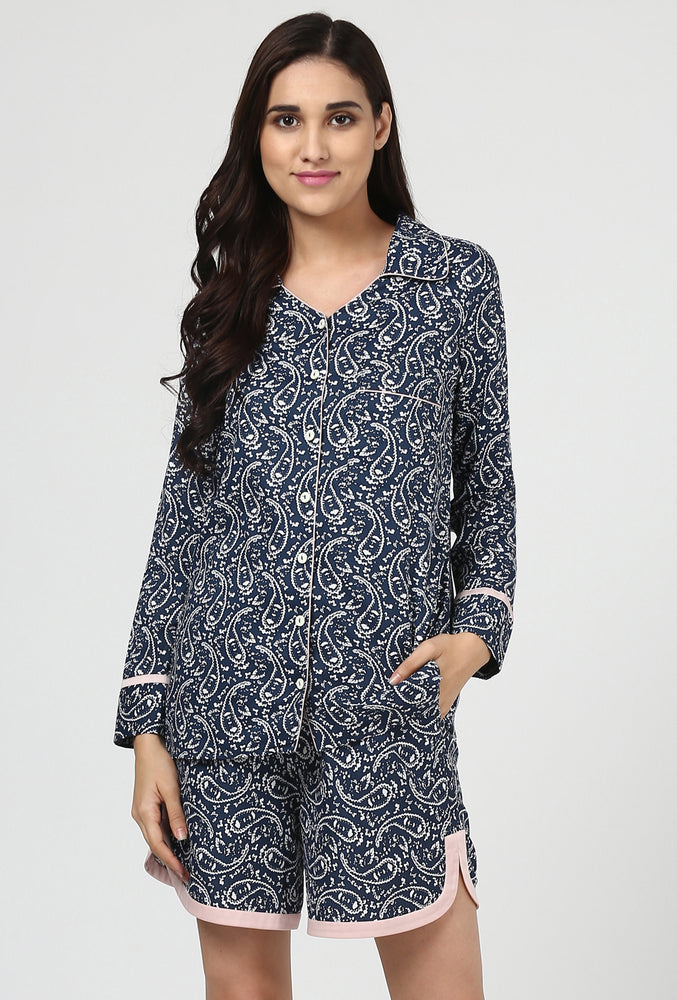 Paisley Print Snuggle Up Night Suit