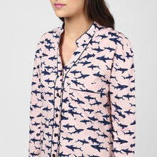 Load image into Gallery viewer, Pink Printed Night Shirt