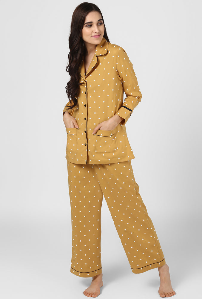 Polka Print Pajama Party Night Suit