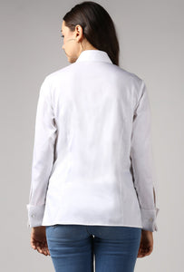 White French Cuff Tailored Shirt Back