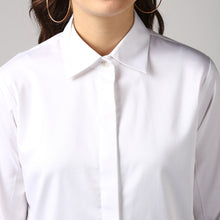 Load image into Gallery viewer, White French Cuff Tailored Shirt Detail