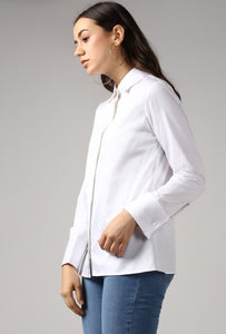 White French Cuff Tailored Shirt Side