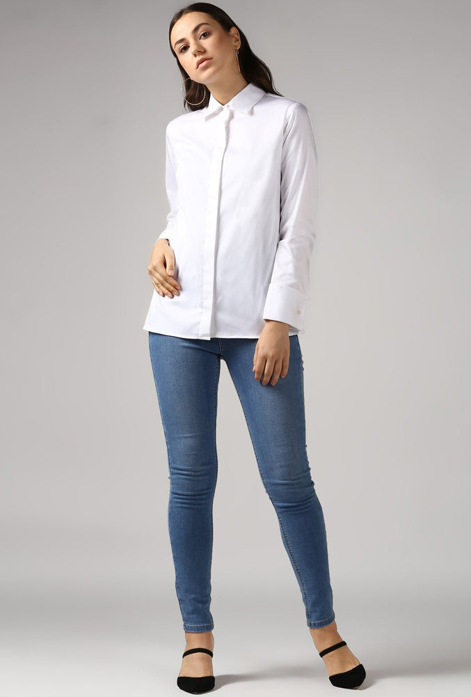 White French Cuff Tailored Shirt Style