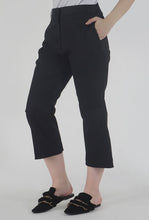 Load image into Gallery viewer, Black Wide Legged Culotte Pants side