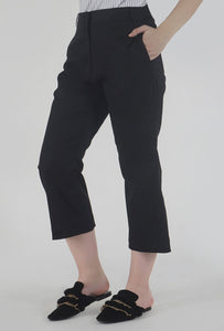 Black Wide Legged Culotte Pants side