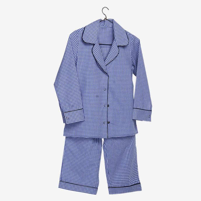 Blue Gingham Mini Me Night Suit