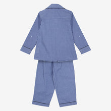 Load image into Gallery viewer, Blue Gingham Mini Me Night Suit