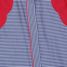 Load image into Gallery viewer, Blue Stripe Crushed Sleeve Mini Me Dress