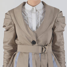 Load image into Gallery viewer, Cowl Sleeve Shawl Collar Blazer detail