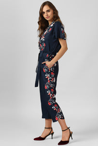 Floral Panel Print Jumpsuit