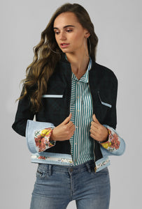 Green Checkered Bomber Jacket