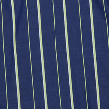 Load image into Gallery viewer, Green Stripe Frill Sleeve Blue Shirt Dress