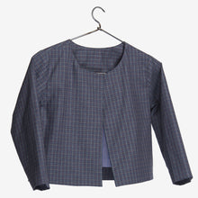 Load image into Gallery viewer, Grey Checkered Mini Me Cape