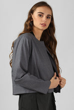 Load image into Gallery viewer, Grey Checkered Slip On Cape