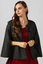 Load image into Gallery viewer, Grey Felt Snuggle Up Cape