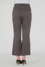 Load image into Gallery viewer, Mink Grey Peek-a-Boo Pants back