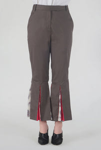 Mink Grey Peek-a-Boo Pants crop