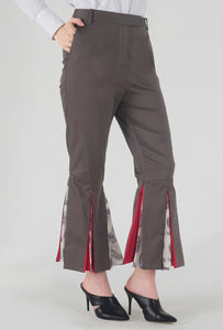 Mink Grey Peek-a-Boo Pants detail