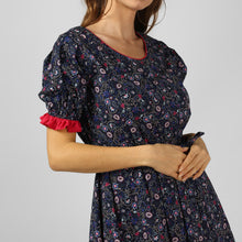 Load image into Gallery viewer, Paisley Floral Print Scoop Neck Dress