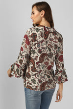 Load image into Gallery viewer, Paisley Print V-Neck Top