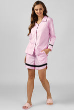 Load image into Gallery viewer, Pink Pinstripe Snuggle Up Night Suit