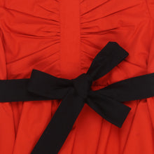 Load image into Gallery viewer, Red Black Layered Frock Dress