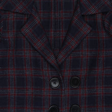 Load image into Gallery viewer, Red Plaid Snuggle Long Coat