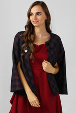 Load image into Gallery viewer, Red Plaid Snuggle Up Cape