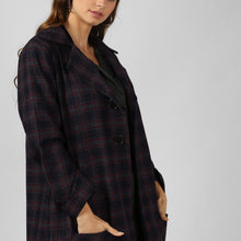 Load image into Gallery viewer, Red Plaid Snuggle Up Long Coat