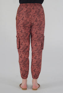 Salmon Camouflaged Stripe Jogger Pants back