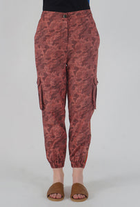 Salmon Camouflaged Stripe Jogger Pants detail