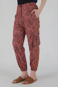 Salmon Camouflaged Stripe Jogger Pants side