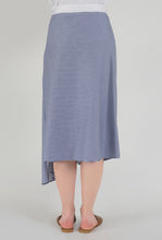 Load image into Gallery viewer, Stripe Draped Asymmetrical Skirt back