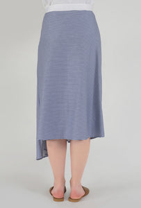 Stripe Draped Asymmetrical Skirt back